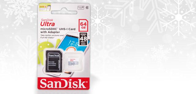 64GB SDHC SanDisk Ultra microSDXC 64 GB 48 MB/s Class 10 UHS-I